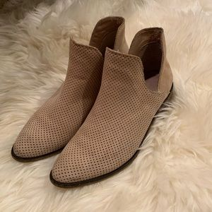 Kaanas Perforated Leather Booties
